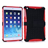 Vogue Shop Ipad mini 2 TPU stand Case, Ipad mini Case Cover - Ipad mini 2 Shock-absorption / Impact Resistant Hybrid Dual Layer Armor Defender Protective Case Cover with Built-in Kickstand for Ipad mini 2 (red)