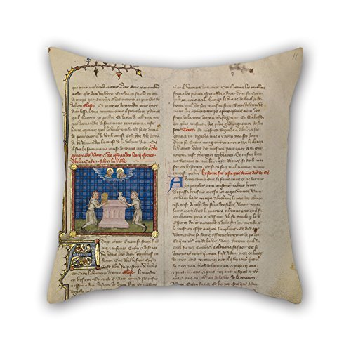 Loveloveu Pillow Cases Of Oil Painting Master Of Jean De Mandeville Cain And Abel Offering Gifts,for Wife,bench,dining Room,deck Chair,him,couples 16 X 16 Inches / 40