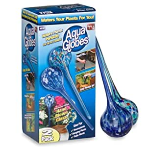 Aqua Globes AG011706 Glass Plant Watering Bulbs, 2-Pack (Discontinued by Manufacturer)