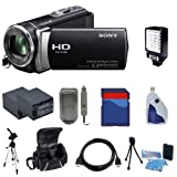 Sony HDR-CX190 CX190 High Definition Handycam Camcorder (Black) - Advanced Package