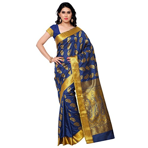 Varkala Silk Sarees Silk Kanchipuram Saree With Blouse Piece (SS3117RB_Royal Blue)