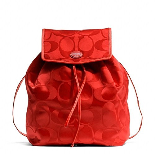 Coach Getaway Signature Packable Backpack Red Vermillion F77350