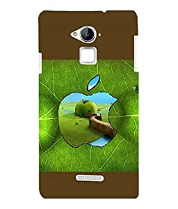 printtech Apple Green Leaf Back Case Cover for COOLPAD NOTE 3 / COOLPAD NOTE 3 PLUS