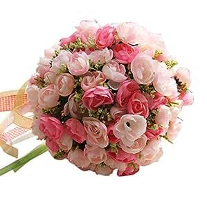 SWEET PINK Beautiful Artificial Flowers Wedding Bouquet