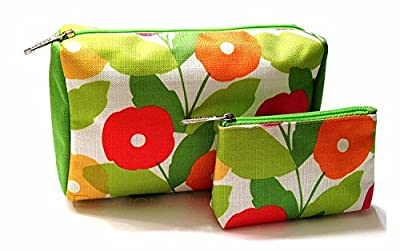 Clinique 2-pc. Flowered Cosmetic Bag Set