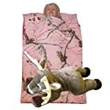 Camo Kids Realtree AP Pink Slumber Sleeping Bag & Animal Pillow (Whitetail Deer Pillow)
