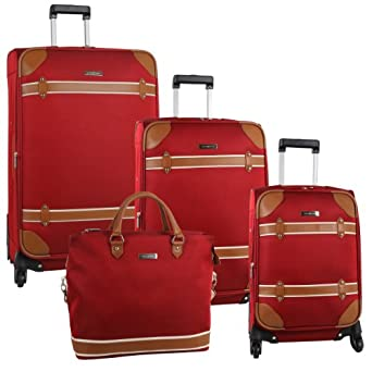 Anne Klein Luggage Four Piece Luggage Set
