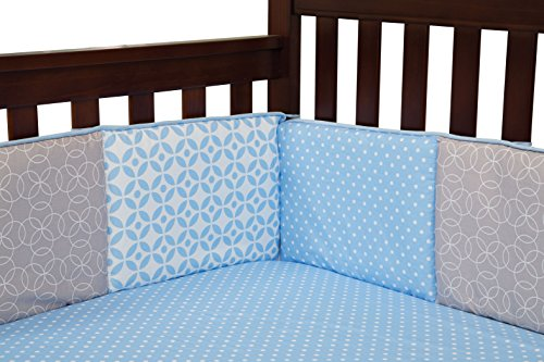 Trend Lab Logan Crib Bumpers, Blue