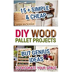 DIY Wood Pallet Projects. 15+ Simple & Cheap But Genius Ideas To Decorate Your Space: (DIY household hacks, DIY palette projects, DIY upcycle, pallete ... design, diy pallet furniture.) (Volume 1)