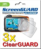 GUARMOR 3x Fujifilm Fuji FinePix XP50 XP55 XP20 XP22 XP30 Digital Camera Premium Clear LCD Screen Protector Cover Guard Shield Film Kit, 100% Fit (3 Pieces)