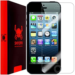 Skinomi TechSkin - Apple iPhone 5 Screen Protector Ultra Clear Shield + Lifetime Warranty (AT&T, Sprint, Verizon Wireless)