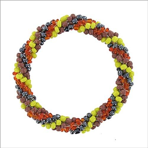 Multi Seed Bead Stretch Nepal Bracelet #041639