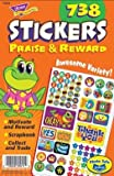 Trend Enterprises トレンド Sticker Pad Praise & Reward 【英語教材 ご褒美シール】ごほうびシールパッド (738枚入り) T-5011