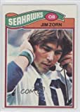 Jim Zorn RC (Rookie Card) Seattle Seahawks (Football Card) 1977 Topps #65 at Amazon.com