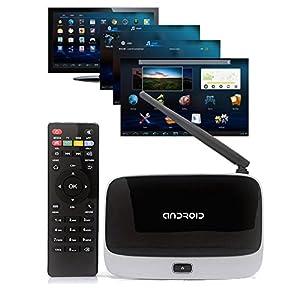 Dragon-best Android 4.4 TV Box CS918 Q7 MK888 K-R42 Quad Core RK3188 Bluetooth 2GB/8GB Mini PC XBMC Famous Apps & ADD ONS Preinstalled Smart tv box media player-Black from dragon-best