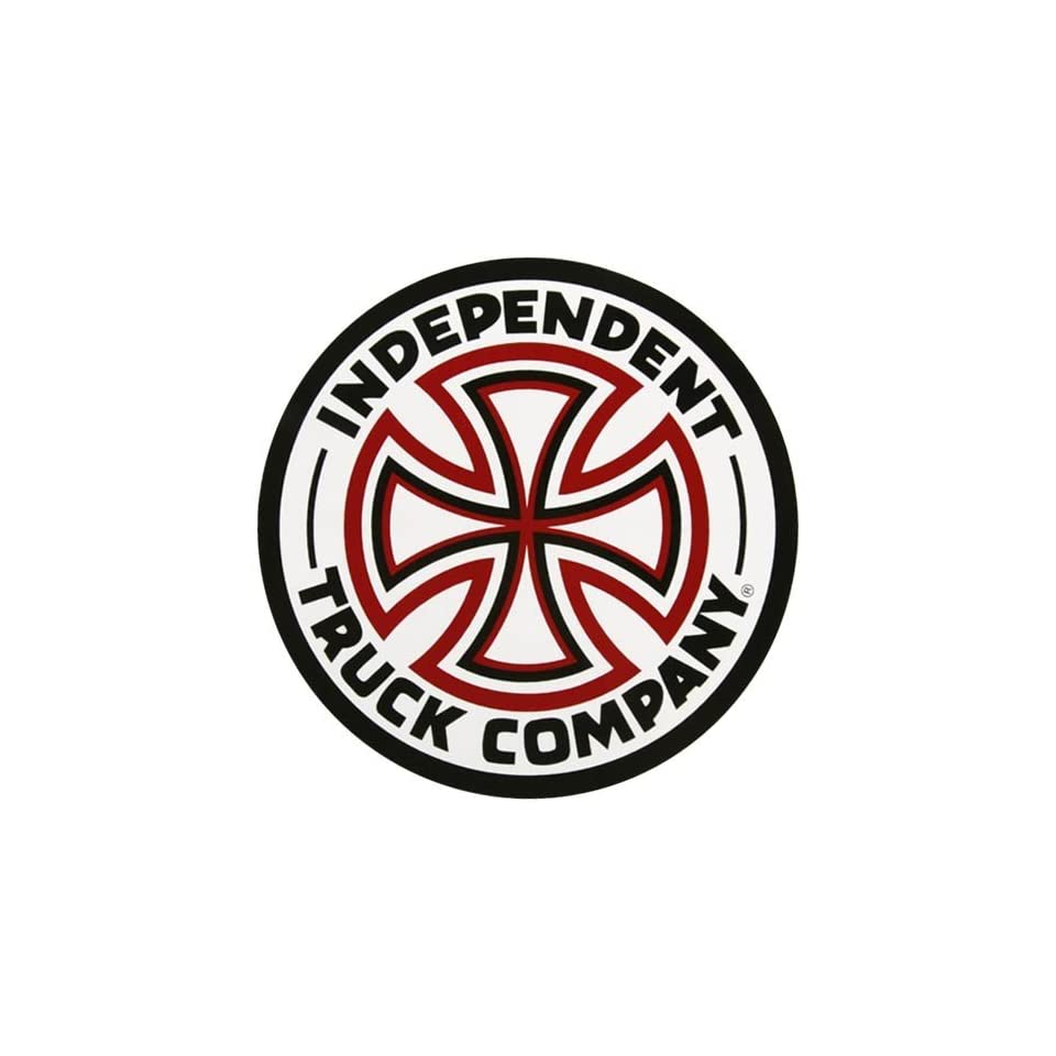 Independent Cross Red/White 7 Skate Sticker Sports
