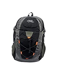 Donex Black & Grey Color Designer Light Weight 29 Litre School/College Backpack