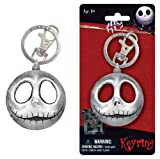 Jack Skellington Head Smiling Nightmare Before Christmas Character Car Truck SUV Boat Home Office Chrome Metal Pewter Key Chain