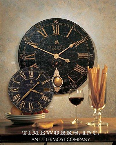 Large London Round Brass Pendulum Wall Clock |