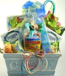 Amazon.com : Just Beachy, Tropical Gift Baskets - Beach Gift Basket ...