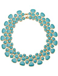 Tipsyfly Choker Necklace For Women (Blue) (243NSKY)