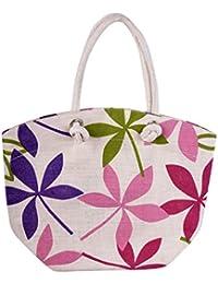 MOKSH Jute Multi-Colour Reusable Shopper Bag (JB-061)