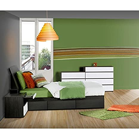Modern Twin Size Bedroom Set With Four Drawer Chest FMP25106