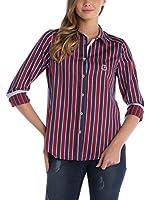 SIR RAYMOND TAILOR Camisa Mujer (Azul Marino / Burdeos)