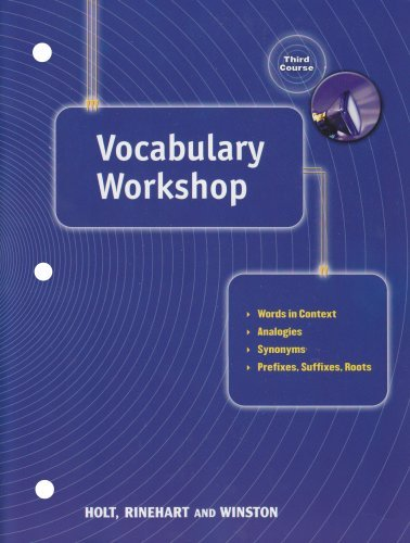 Elements of Language, 3rd Course, Grade 9: Vocabulary Workshop Tests