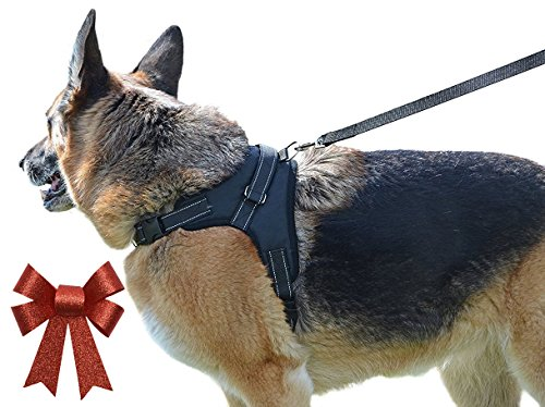 Our Legendary Dog Harness Across USA - Leash Included - MyPetsAmerica Reflective, Adjustable Harness With Handle - No-Choke, No-Slip - for Training, Walking, Hiking - Premium Quality - No-Pull Effect (Dog Harness Pit Bull compare prices)
