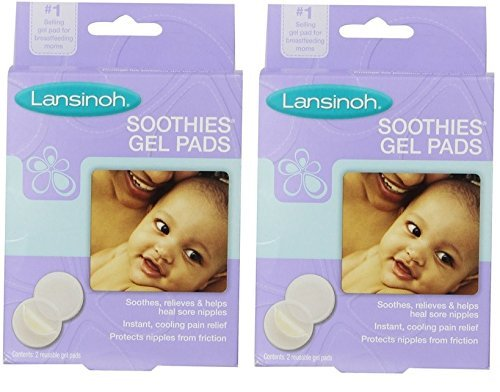 Lansinoh Soothies Gel Pads, (Pack of 2 (4 Count) - 1