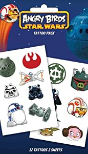 Official Angry Birds Star Wars Temporary Tattoos (Swoosh)