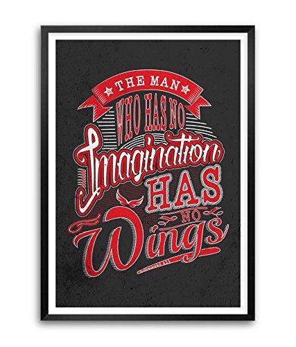 Lab n. 4Muhammad Ali vita futura Imagination Quotes poster con cornice in formato A3(41,9x 29,7cm)