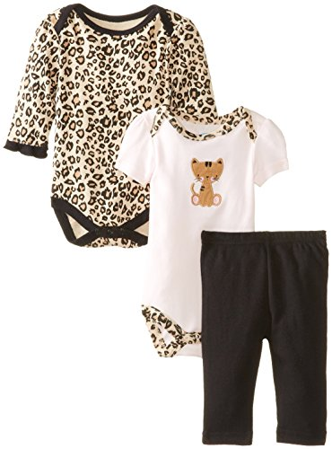 Bon Bebe Baby-Girls Newborn Kitty Pant Set With 2 Bodysuits, Multi, 3-6 Months front-12860