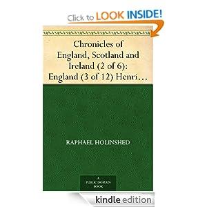 Chronicles of England, Scotland and Ireland (2 of 6): England (3 of 12) Henrie I.