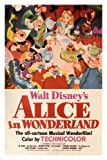 Walt Disney's Alice in Wonderland MOVIE POSTER 1951 24X36 VINTAGE CARTOON