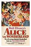 Walt Disney's Alice in Wonderland MOVIE POSTER 1951 24X36 VINTAGE CARTOON (reproduction, not an original)