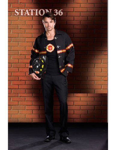 Smokin Hot Fire Dept Male Lg Adult Mens Costume