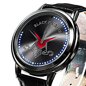 ZRDTH Punk Style Watch Anime Code Geass: Lelouch of the Rebellion Geass X Black Knights Touch Screen LED Watch