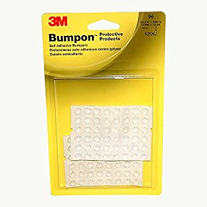 "3M SJ5302 Bumpon Blister Pack, Clear 0.312"" Wide x Long, 0.085"""