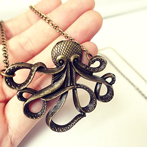 Eternity-J-Vintage-Retro-Brown-Cute-Octopus-Steampunk-Necklace-Catoon-Animal-Pendant-Chain-for-Women