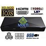 SONY S1200 Multi System Region Free Blu Ray Disc DVD Player - PAL/NTSC - USB - Comes with 110-240 Volt World-Wide Use & 6 Feet HDMI Cable