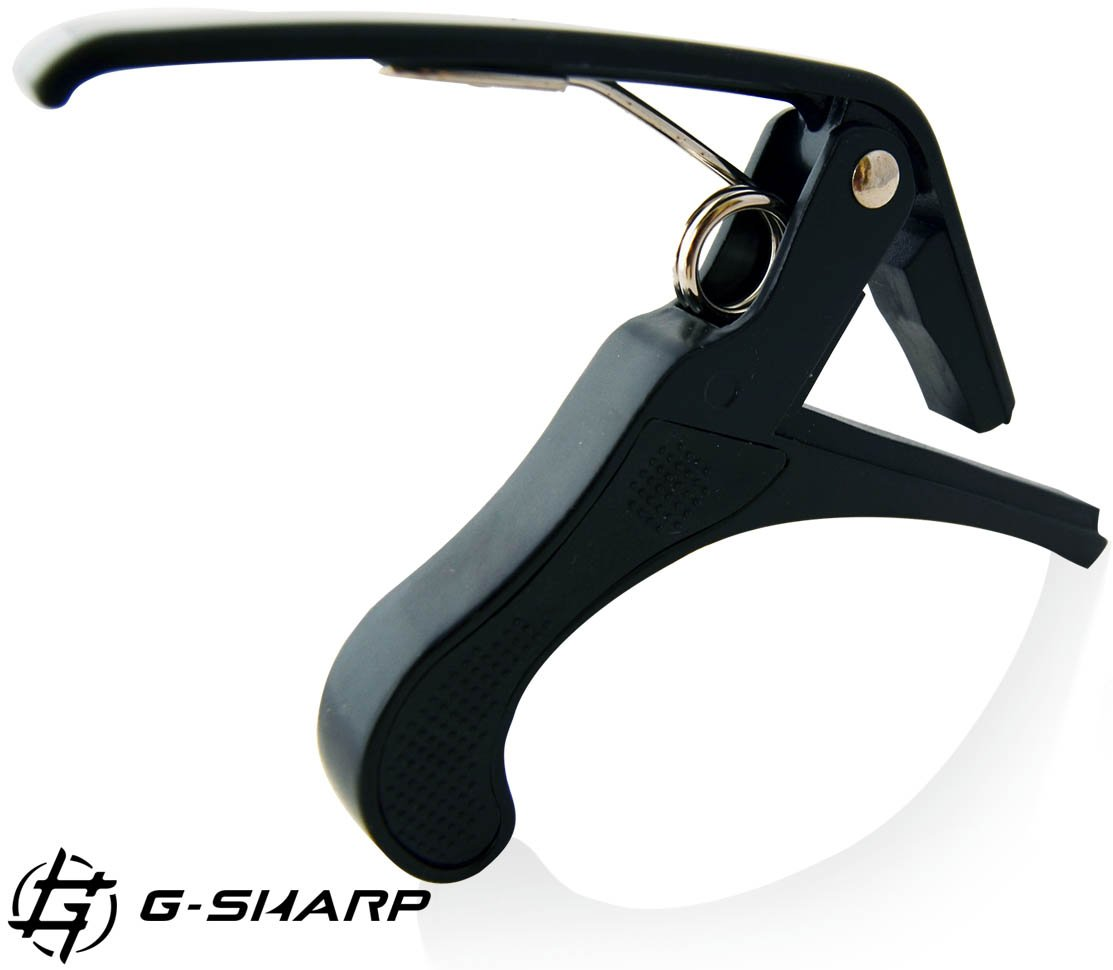 Guitar & Bass Capo By GSharp - Keeps Strings Tight Without Disturbing The Tuning - Easy To Release & Reposition With One Hand - Portable & Extremely Lightweight - Ensures High Quality Sound