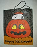 Snoopy & Woodstock Happy Halloween Pumpkin Trick or Treat Bag Peanuts Gift Bag thumbnail