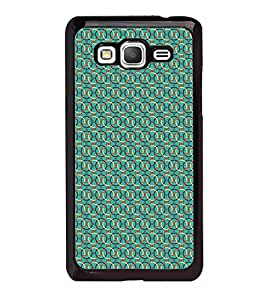 Fuson Premium 2D Back Case Cover Green Pattern With Black Background Degined For Samsung Galaxy Grand Prime G530h