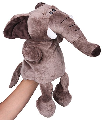 Flexibuy-12-Babies-Toddlers-Velour-Cute-Elephant-Full-Body-Hand-Puppet-Toys