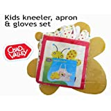 Kid's Garden Set, Yellow Bumble Bee, Apron, Gloves and Kneeler Padby Chad Valley