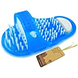 Noppor Bathroom Shower No Bending Feet Brush Foot Cleanning Bristle Slipper Bath Scrubber Massager Stick On Floor...