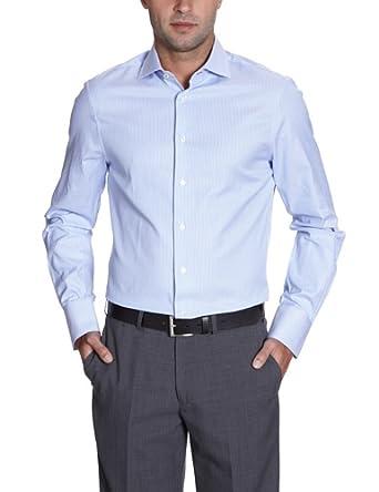 Arrow Herren Businesshemd Slim Fit, gestreift DEVON SLIM FIT SC / CL00311I82, Gr. 38, Blau (062 Light Blue)