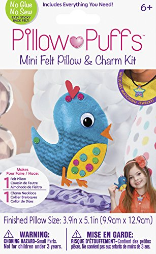 Darice PUF-107 Felt Pillow Kit, Bird Design